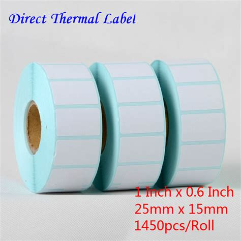 Label Sticker Barcode Thermal 50x25 1 1 Line 1000 Pcs wholesale 36 rolls thermal label sticker 25mmx15mm blank barcode label paper adhesive packing