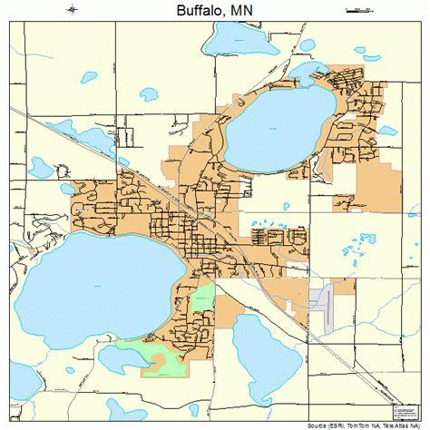 buffalo map buffalo minnesota map 2708452