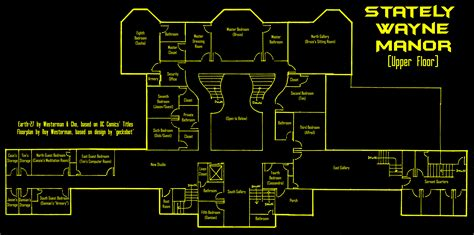 wayne manor floor plan earth 27 s wayne manor upper by roysovitch on deviantart