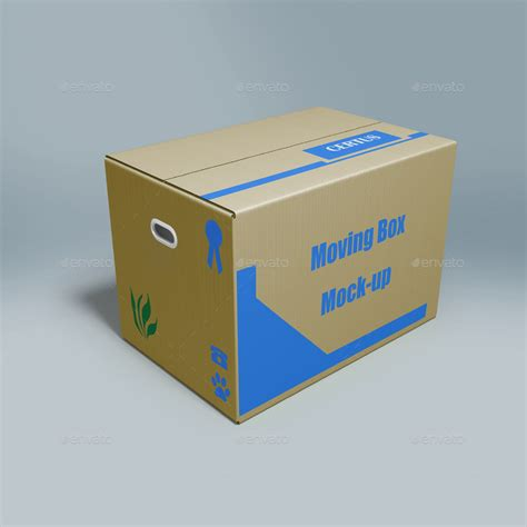 Ups Wardrobe Boxes by Moving Box Mock Up By Maxtecb Graphicriver