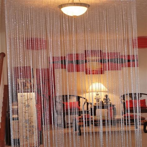 room partition curtain string curtain room divider partition silver