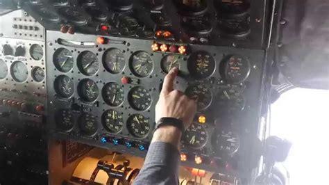 l 1049 engine start flight engineer panel