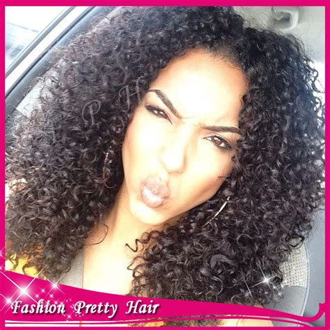Middle Part Curly Hair Sew In   Short Curly Hair