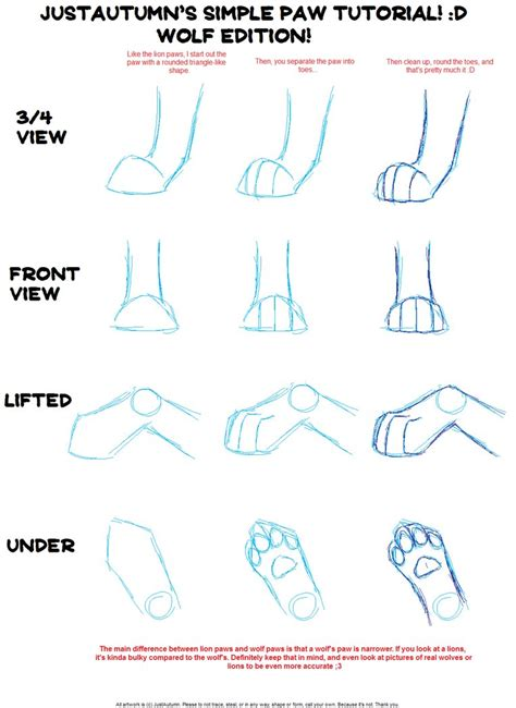 werewolf paw tutorial how to draw wolf paws