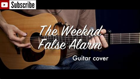 guitar tutorial cover false alarm the weeknd guitar cover guitar lesson