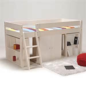 lit combin 233 avec bureau et rangement couchage 90x190cm