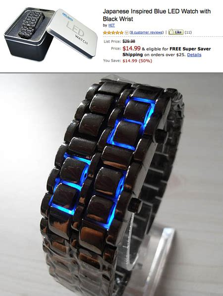 Led Iron Samurai Tokyoflash Replica Blue iron samurai blue led goes on sale techeblog