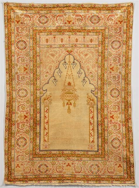 silk prayer rug lot 240 turkish silk prayer rug c 1900