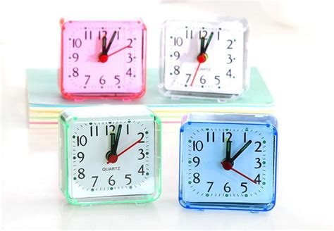 new 10pcs lot simple alarm clock table desk clocks birthday gift student alarm clock in alarm