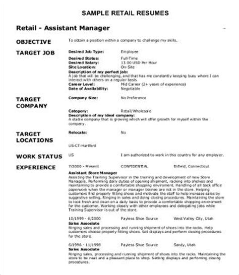 Resumes For Retail Sales by 10 Sle Retail Resume Templates Pdf Doc Free