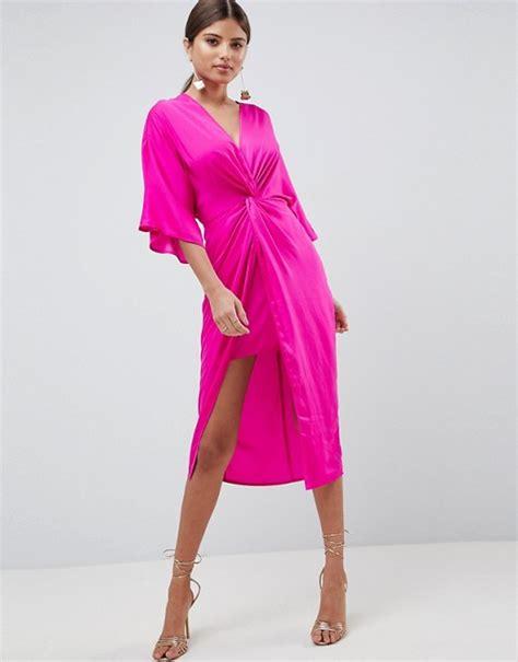 Asos Knot Front by Asos Asos Design Knot Front Kimono Midi Dress