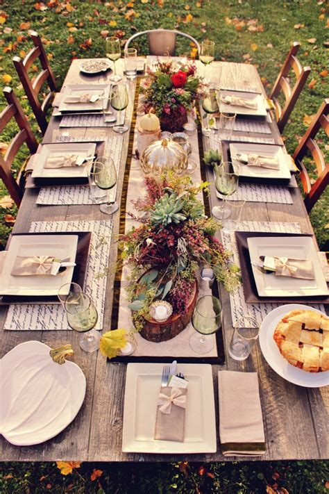thanksgiving outdoor table decorations ideas for your thanksgiving table celebrate every day