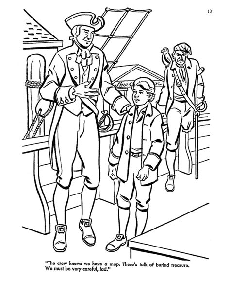 treasure island pirate coloring pages boarding the