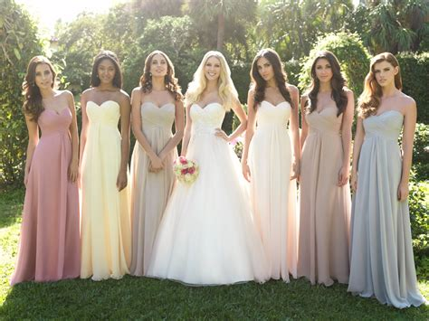angee s eventions mismatches bridesmaid dresses
