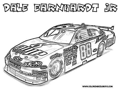 Nascar Coloring Pages Nascar Coloring Page