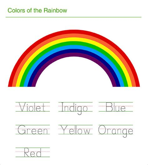 rainbow templates to colour 8 rainbow templates free pdf documents free