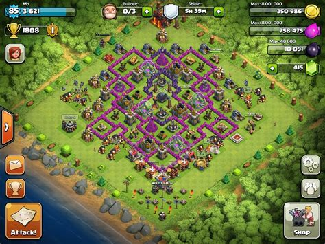 layout village clash of clans clash of clans town hall 10 layout clash of clans