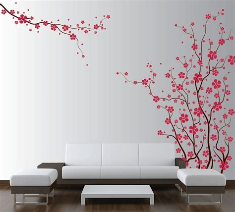 Large Wall Tree Nursery Decal Japanese Magnolia Cherry Large Wall Decals For Nursery