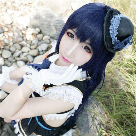 Wig Darkblue Umi Sonoda http www cosplayguru hsiu high quality live wig costume play umi sonoda