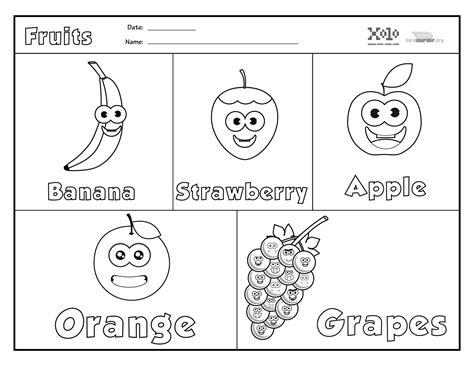 imagenes en ingles para colorear frutas para colorear en ingles imagui