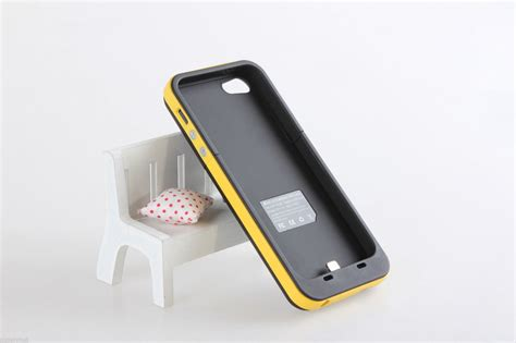 yellow portable charger battery backup 2000mah external power for apple iphone 5 5s