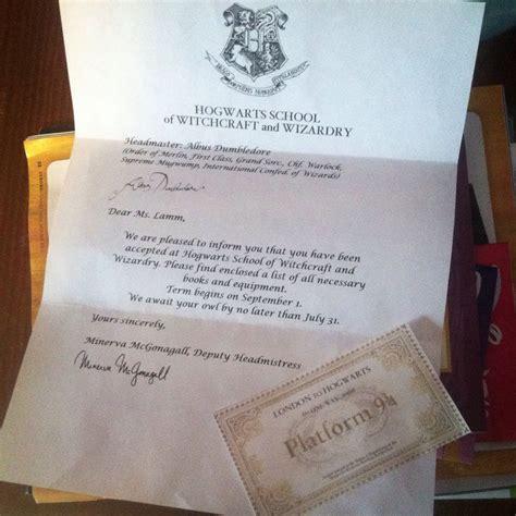 Hogwarts Acceptance Letter With Ticket 149 best images about harry potter on hogwarts