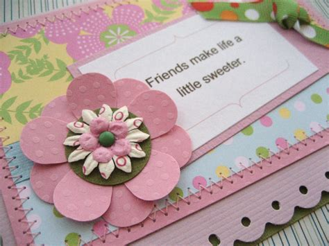 Handmade Friendship Cards - flower style handmade cards for friendship trendy mods