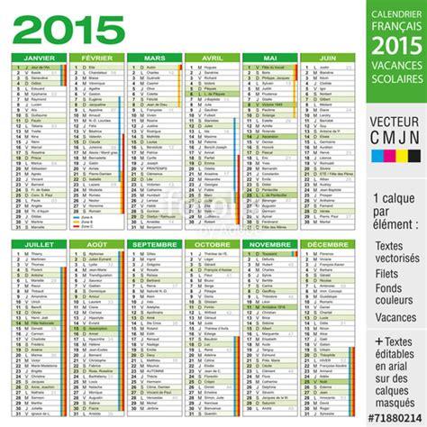 Calendrier Vacances Scolaires Quot Calendrier 2015 Avec Vacances Scolaires Quot Fichier