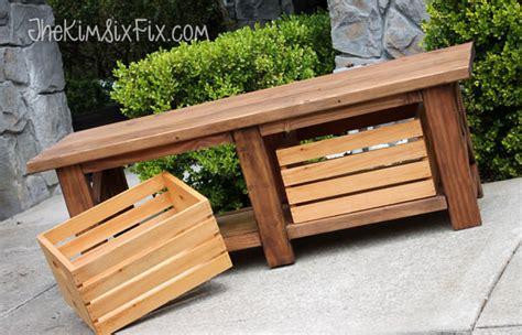 diy outdoor storage benches  garden glove
