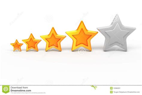 art design ranking four gold star for ranking stock image image 12080201