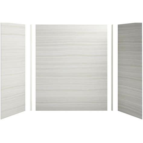 Kohler Shower Panels by Shop Kohler Choreograph Veincut Dune Shower Wall Surround