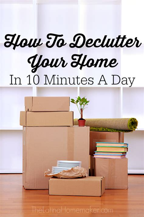 Declutter  Home   Minutes  Day