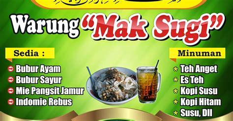 desain gambar warung makan gambar desain banner warung makan cdr mso excel 101
