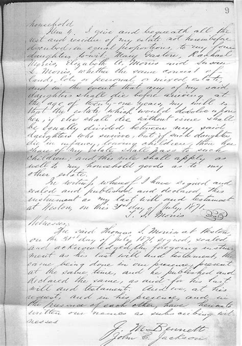Lewis County Records Will Of S Morris Lewis County Wvgenweb