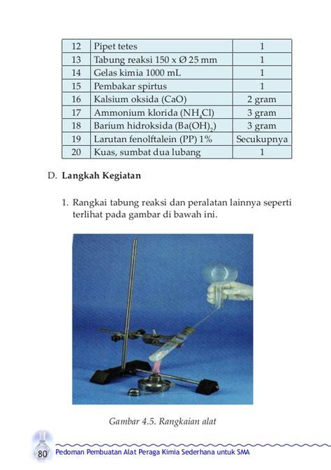 Alat Tes Tekanan Pipa buku alat peraga kimia