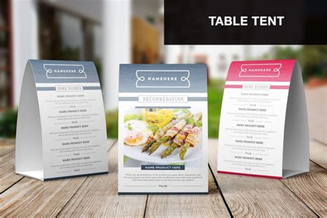 68 Menu Card Templates Free Psd Word Illustrator Designs Table Top Menu Template