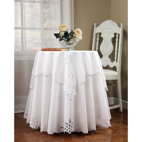 tablecloth for 42 round table battenburg 70 inch round tablecloth and topper set free