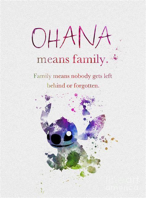 ohana means family 3 mixed media by rebecca jenkins