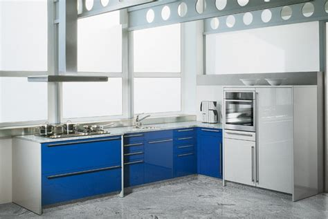 Blue Gloss Kitchen Cabinets by 20 Trendy Blue Kitchen Sets In Interior Design Home
