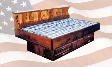 waterbed pine youth bed with drawer pedestal single size waterbeds frames pine