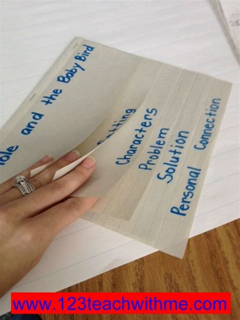 flipped book report 1 2 3 teach with me quot retell quot flip book how to make