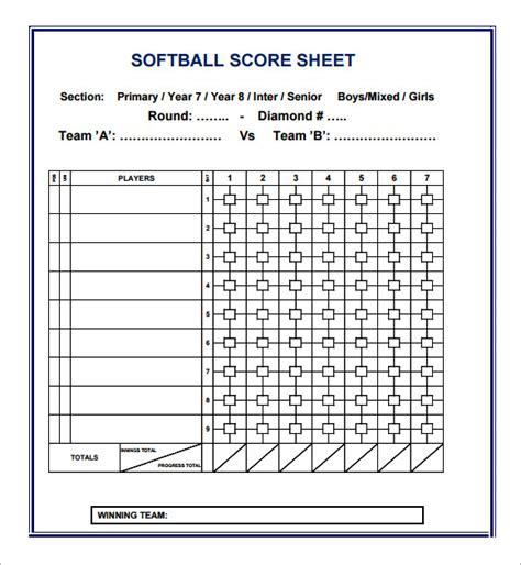 softball score sheet 7 download free download in pdf