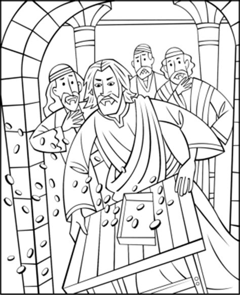 free coloring page jesus in the temple free sunday school coloring pages jesus cleansing the temple