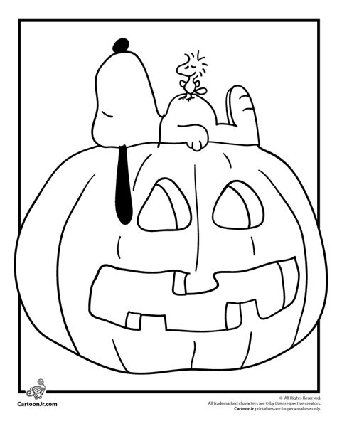 pumpkin charlie brown coloring pages snoopy