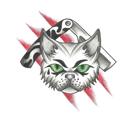 tuff tattoo designs tough cat design by genotas on deviantart