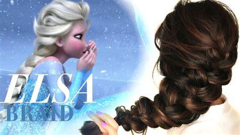 tutorial gaya rambut elsa frozen disney s frozen elsa quot messy braid quot tutorial