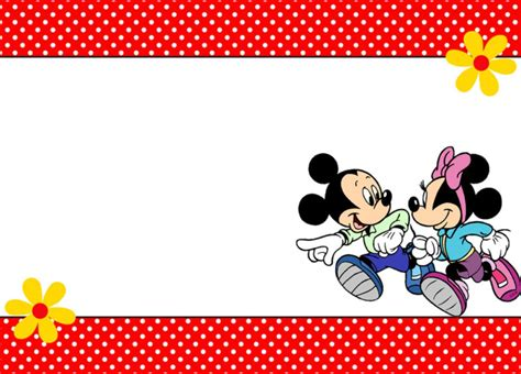 Free Printable Mickey And Minnie Mouse Invitations