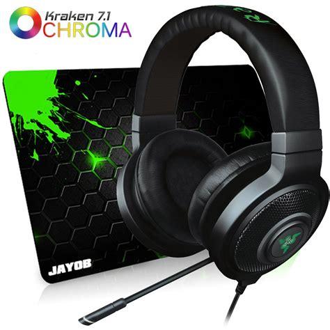 Razer Kraken 7 1 Chroma Headset fone razer kraken 7 1 chroma usb headset ps4 gr 1 ano
