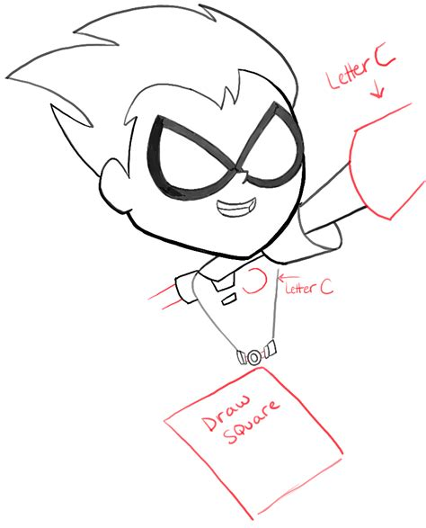 draw robin from teen titans go how to draw robin from teen titans go with easy steps