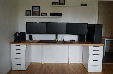 ikea countertop desk reddit newly built desk battlestations